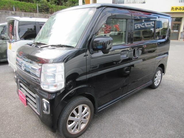 沖縄県の中古車ならスクラムワゴン PZターボ 社外ナビ 純正アルミ Wエアバック パワースライドドア パワーステアリング
