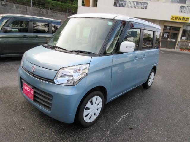 沖縄の中古車 スズキ スペーシア 車両価格 49万円 リ済込 2013(平成25)年 8.0万km ブルー