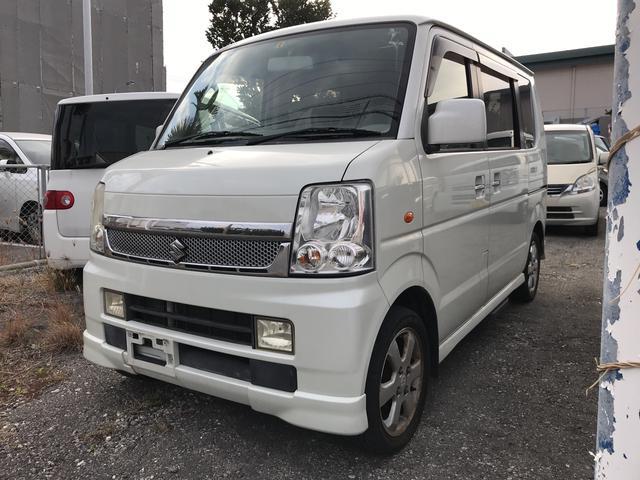 沖縄市 UU-Auto スズキ エブリイワゴン PZターボスペシャル 2年保証付き パールホワイト 13.5万km 2006(平成18)年