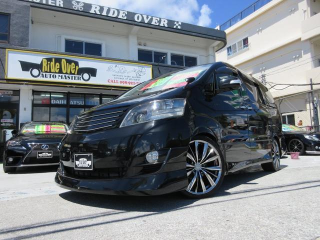 沖縄の中古車 トヨタ アルファードG 車両価格 89万円 リ済別 平成18後 10.0万km ブラック