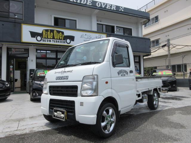 沖縄県の中古車ならキャリイトラック KCエアコン・パワステ WORKグッカーズ14インチアルミ 社外ハンドル
