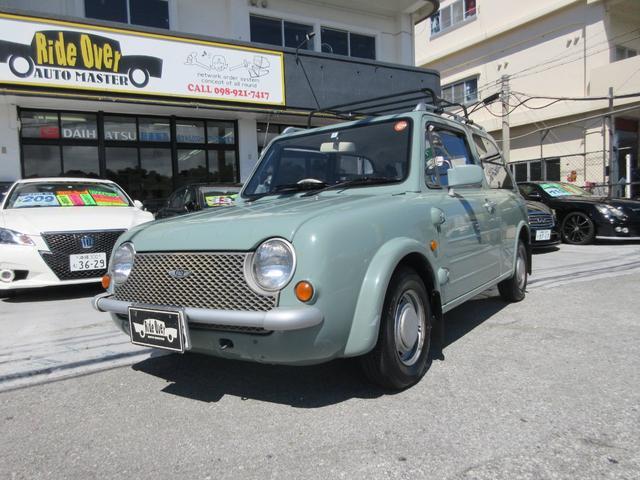 沖縄の中古車 日産 パオ 車両価格 59万円 リ済別 1990(平成2)年 10.4万km ライトブルー