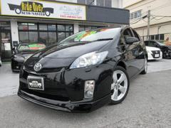 沖縄の中古車 トヨタ プリウス 車両価格 99万円 リ済別 平成22年 8.9万K ブラック