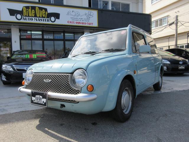 沖縄の中古車 日産 パオ 車両価格 55万円 リ済別 1989(平成1)年 12.0万km ブルー