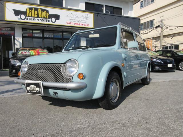 沖縄の中古車 日産 パオ 車両価格 45万円 リ済込 1989(平成1)年 16.0万km ライトブルー