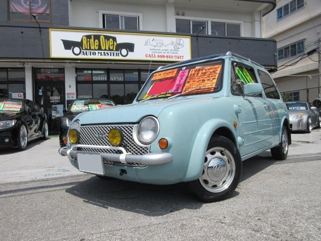 沖縄の中古車 日産 パオ 車両価格 55万円 リ済込 平成1年 13.1万km ブルーグレー