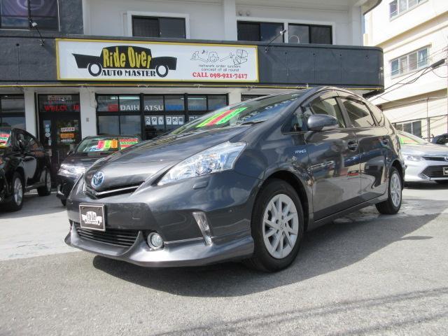 沖縄の中古車 トヨタ プリウスアルファ 車両価格 109万円 リ済別 2012(平成24)年 9.1万km ガンM