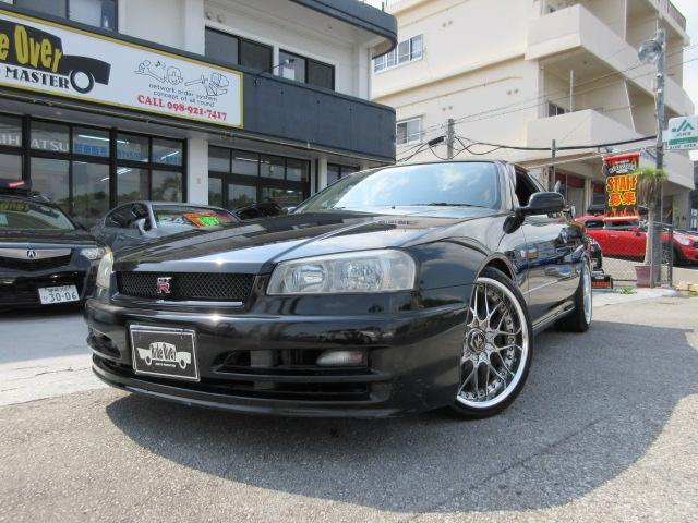沖縄県の中古車ならスカイライン GT CUSCO車高調 WORK18アルミ 社外マフラー