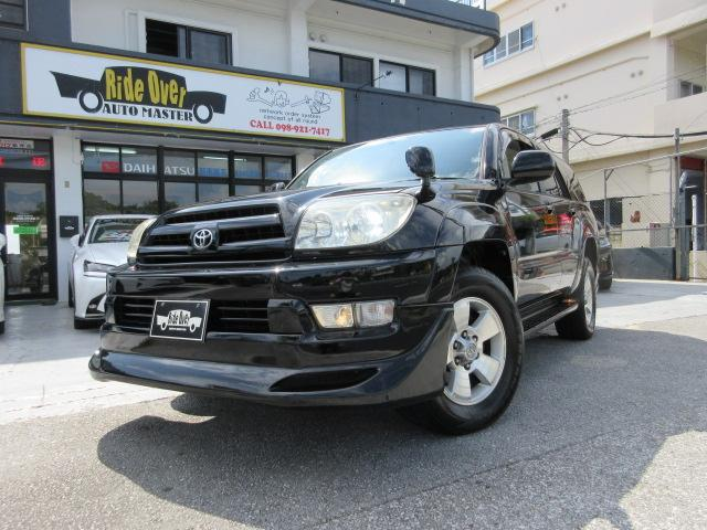 沖縄の中古車 トヨタ ハイラックスサーフ 車両価格 99万円 リ済込 2003(平成15)年 12.0万km ブラック