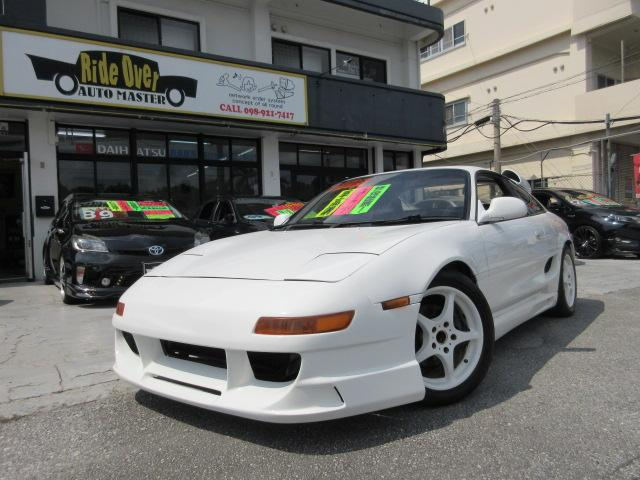 沖縄県の中古車ならMR2 GT TURBO 車高調 社外アルミ 社外マフラー BRIDEフルバケ