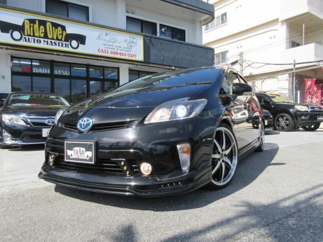 沖縄県の中古車ならプリウス S 社外エアロ・社外19インチアルミ・ローダウン・社外ヘッドライト