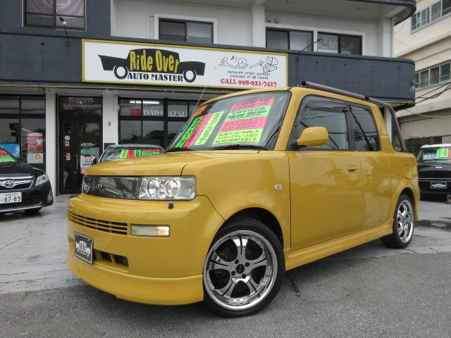 沖縄県の中古車ならbB オープンデッキ オープンデッキ(5名)社外17アルミ・タイヤ4本新品・社外ヘッドライト・トノカバー・タワーバー