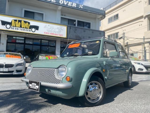 沖縄県の中古車ならパオ キャンバストップ 社外アルミ タイミングベルト交換済み 電動キャンバストップ 純正オーディオ