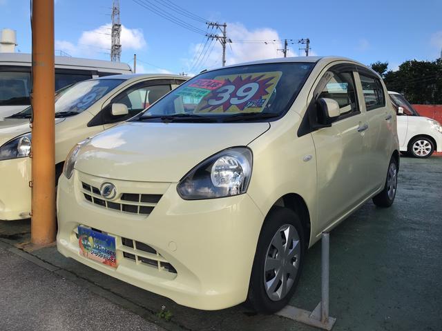 沖縄の中古車 ダイハツ ミライース 車両価格 29万円 リ済込 2012(平成24)年 13.9万km コットンアイボリー