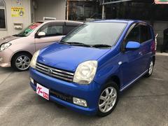 沖縄の中古車 ダイハツ ミラアヴィ 車両価格 19万円 リ済別 平成15年 14.0万K ブルー