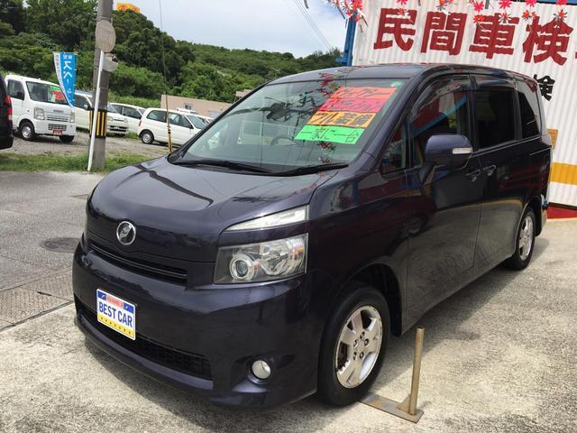沖縄の中古車 トヨタ ヴォクシー 車両価格 49万円 リ済別 平成19年 9.6万km ダークパープルM