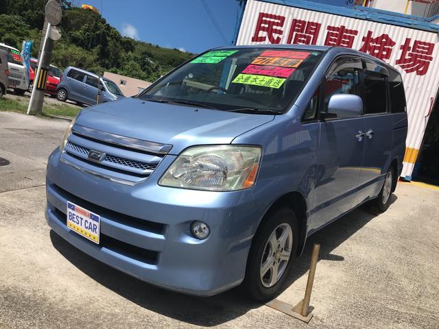 沖縄の中古車 トヨタ ノア 車両価格 49万円 リ済別 平成17年 7.3万km ブルー