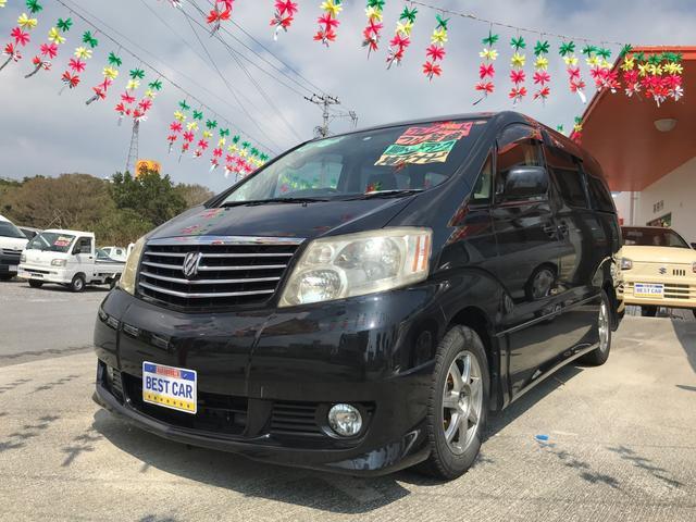 沖縄の中古車 トヨタ アルファードV 車両価格 49万円 リ済別 平成16年 9.4万km ブラック