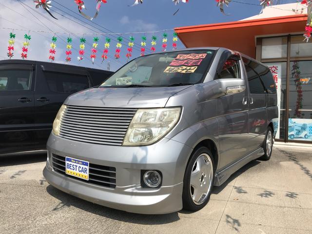 沖縄の中古車 日産 エルグランド 車両価格 29万円 リ済別 2005(平成17)年 9.4万km シルバー
