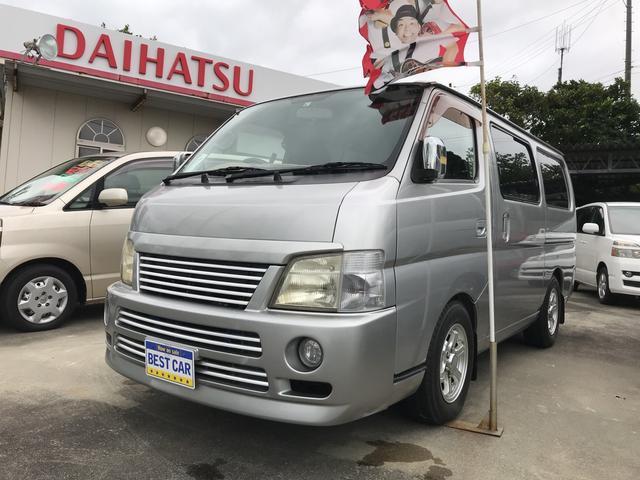 沖縄の中古車 日産 キャラバン 車両価格 59万円 リ済込 2003(平成15)年 9.5万km シルバー