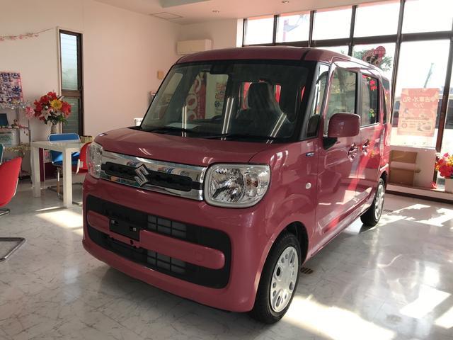 沖縄の中古車 スズキ スペーシア 車両価格 139万円 リ済込 2018(平成30)年 10km ピンク