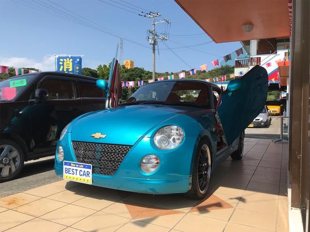 沖縄の中古車 ダイハツ コペン 車両価格 ASK リ済込 2006(平成18)年 12.3万km ブルー