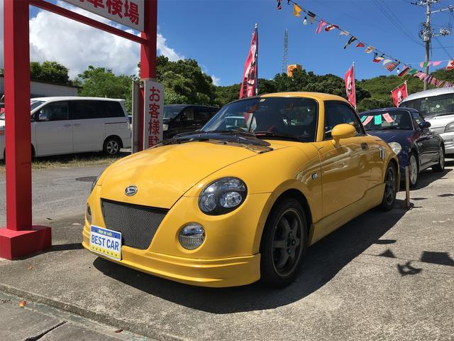 沖縄の中古車 ダイハツ コペン 車両価格 79万円 リ済込 2002(平成14)年 3.6万km イエロー