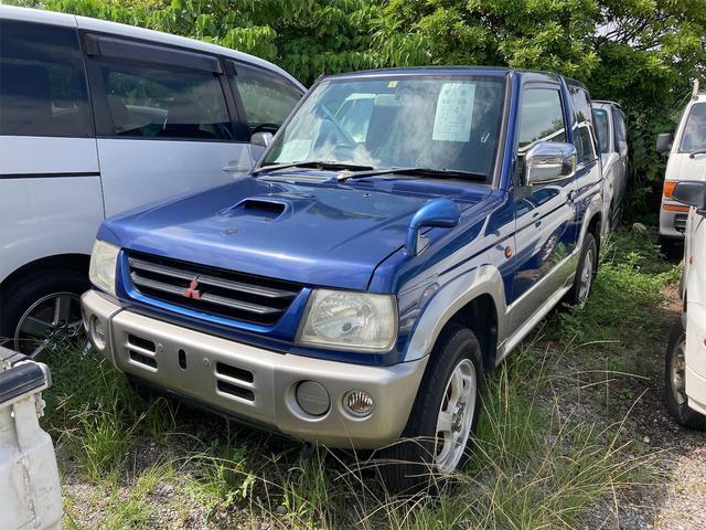 沖縄の中古車 三菱 パジェロミニ 車両価格 29万円 リ済込 1999(平成11)年 9.5万km ブルー