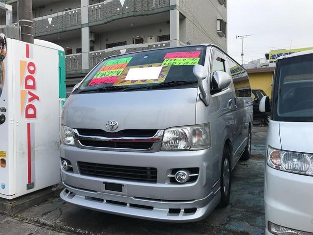 沖縄県の中古車ならレジアスエースバン ロングスーパーGL DVDビデオ フルセグTV ナビ Wエアバック キーレス 電動格納ミラー バックカメラ ETC リアフリップダウンモニター ウィンカーミラー