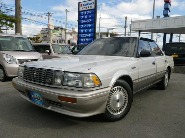 沖縄の中古車 トヨタ クラウン 車両価格 39万円 リ済別 平成3年 15.3万km パールII