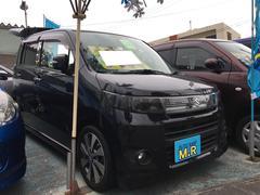 沖縄の中古車 スズキ ワゴンRスティングレー 車両価格 65万円 リ済込 平成24年 6.5万K ブルーイッシュブラックパール3