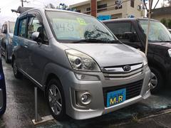 沖縄の中古車 スバル ステラ 車両価格 49万円 リ済込 平成22年 7.1万K スターリングシルバーメタリック