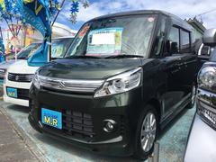 沖縄の中古車 スズキ スペーシアカスタム 車両価格 99万円 リ済込 平成26年 0.4万K Dグリーン