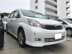 沖縄の中古車 トヨタ アイシス 車両価格 19万円 リ済込 平成17年 15.0万K ホワイトパールクリスタルシャイン