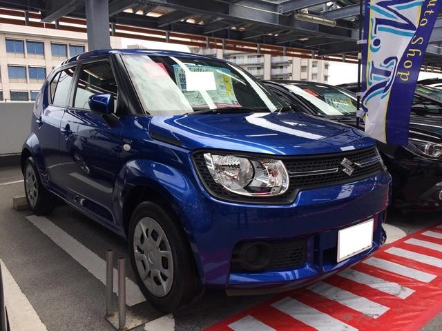 沖縄の中古車 スズキ イグニス 車両価格 89万円 リ済込 平成28年 7.7万km ブルー