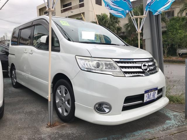 沖縄の中古車 日産 セレナ 車両価格 69万円 リ済込 平成22年 9.1万km ホワイトパール