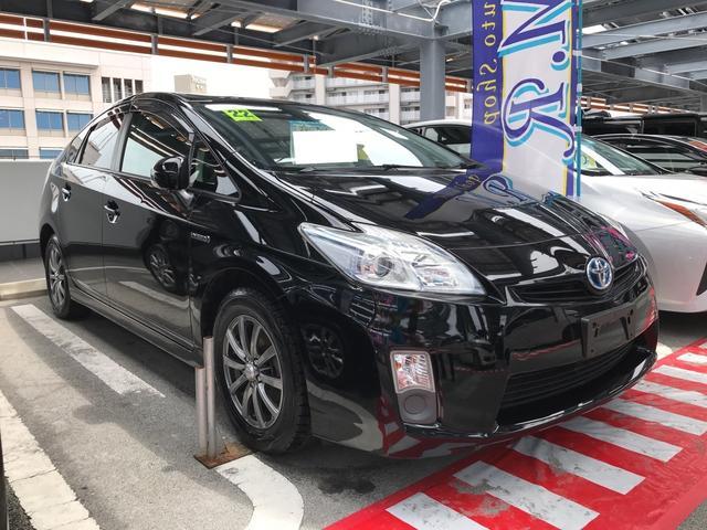 沖縄の中古車 トヨタ プリウス 車両価格 79万円 リ済込 平成22年 9.3万km ブラック