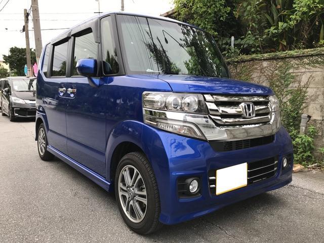 沖縄県の中古車ならN-BOX+カスタム G  CVT ナビ スマートキー