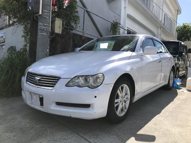 沖縄の中古車 トヨタ マークX 車両価格 6万円 リ済込 2004(平成16)年 17.0万km ホワイト