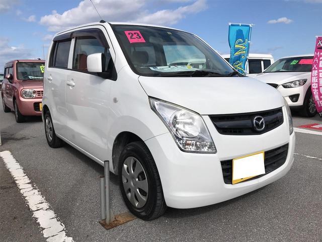沖縄の中古車 マツダ AZワゴン 車両価格 35万円 リ済込 2011(平成23)年 12.8万km スペリアホワイト