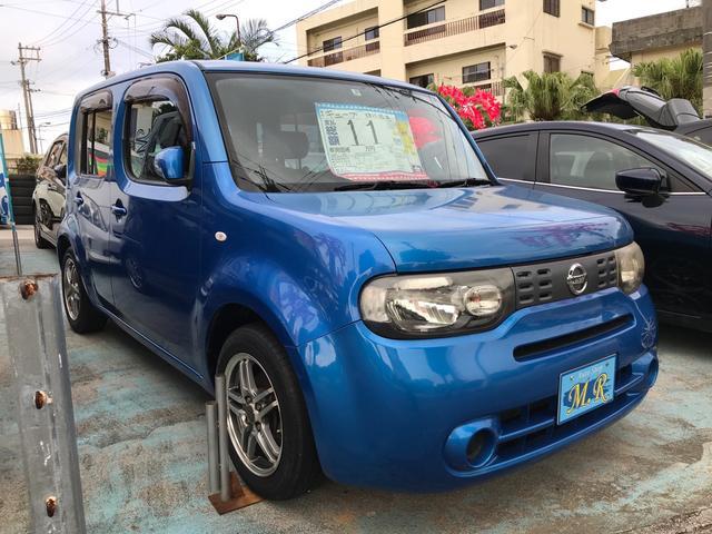 沖縄の中古車 日産 キューブ 車両価格 11万円 リ済込 2009(平成21)年 15.6万km パシフィックブルーPM