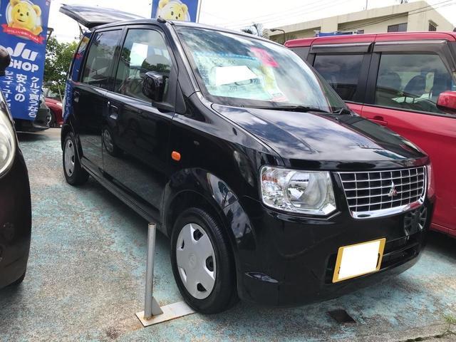 沖縄の中古車 三菱 eKワゴン 車両価格 27万円 リ済込 2011(平成23)年 8.2万km ブラックマイカ
