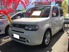 沖縄の中古車 日産 キューブ 車両価格 49万円 リ済込 平成22年 9.9万K ホワイトパール