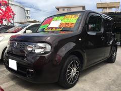 沖縄の中古車 日産 キューブ 車両価格 53万円 リ済込 平成23年 7.4万K ビターショコラP