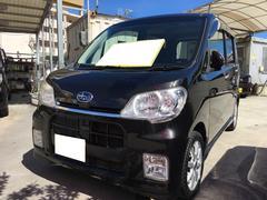 沖縄の中古車 スバル ルクラカスタム 車両価格 42万円 リ済込 平成22年 9.1万K ブラック