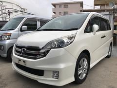 沖縄の中古車 ホンダ ステップワゴン 車両価格 55万円 リ済込 平成21年 11.7万K プレミアムホワイトパール