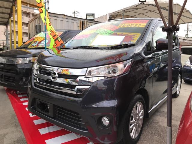 沖縄の中古車 日産 デイズ 車両価格 69万円 リ済込 平成25年 8.6万km ブラック