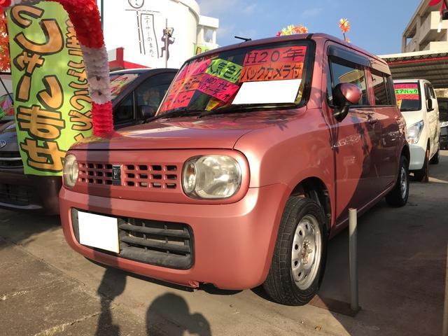 沖縄の中古車 スズキ アルトラパン 車両価格 39万円 リ済込 平成20年 10.2万km チェリーピンクパールメタリック