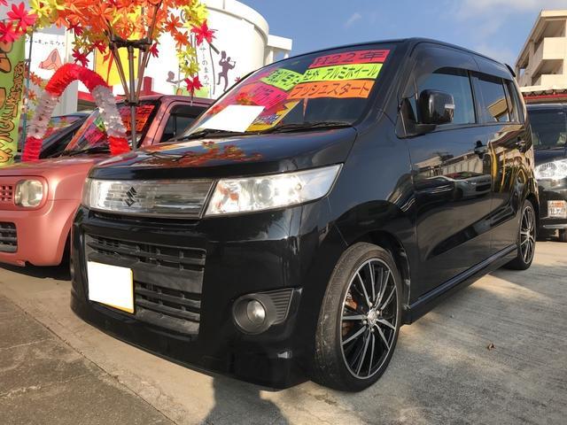 沖縄の中古車 スズキ ワゴンRスティングレー 車両価格 42万円 リ済込 平成22年 9.5万km ブルーイッシュブラックパール3