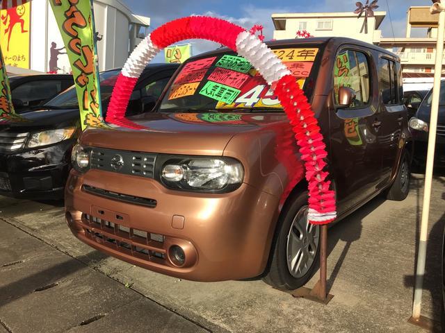 沖縄の中古車 日産 キューブ 車両価格 55万円 リ済別 平成24年 8.6万km シャイニーブロンズPM